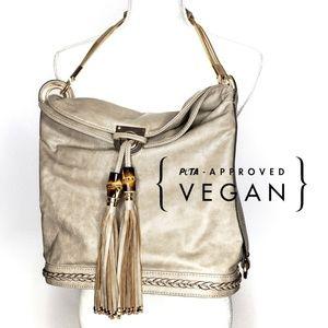 100% Vegan-Leather Melie Bianco Bag Taupe NWT
